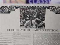 "Signed Daniel Moore ""The Last Pass"" Print 163/1214"