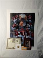 "Signed Daniel Moore ""Crimson Tradition"" Print"