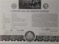 "Signed Daniel Moore ""Grand Finale"" Print 79/7000"