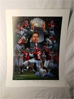 "Signed Daniel Moore ""Crimson Tradition"" Print"