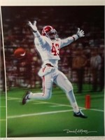 "Signed Daniel Moore ""Interception"" Numbered Print"