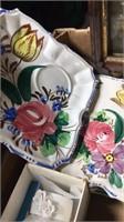Box W/ Art Glass, Collector Plates, & More