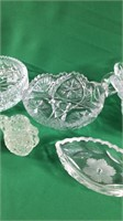 Box of Clear Glass.  Many Lead Crystal