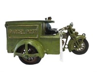 HUBLEY PARCEL POST CAST IRON MOTORCYCLE &