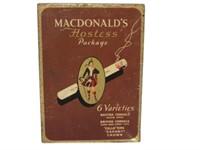 MACDONALD HOSTESS PACKAGE CIGARETTE TIN