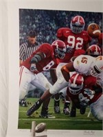 """Signed Daniel Moore """"Rocky Stop"""" Numbered Print"""