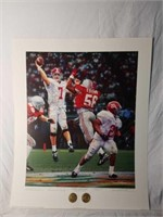 "Signed Daniel Moore ""Winning Connection"" A.P Print"