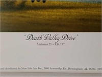 """Signed Daniel Moore """"Death Valley Drive"""" Print"""