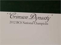 "Signed Daniel Moore ""Crimson Dynasty"" Print BCS"