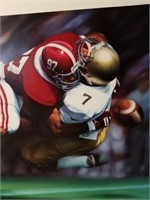 """Signed Daniel Moore """"The Sack"""" Numbered Print"""