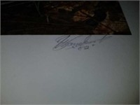 Bill Sanders Emits Gobbler signed print