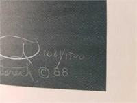 "Signed Rod Frederick ""Glimmer of Solitude"" Print"