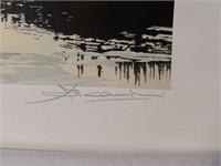 "Signed Simon Camping ""Spring Breakup"" Print"