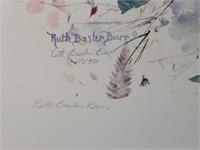 "Signed Ruth Basler Burr ""Potpourri"" Print"