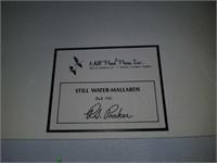 Still waters mallards R.S. Parker signed print