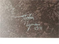 """Signed Stephen Lyman """"Warmed By The View"""" Print"""