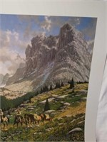 """Signed Roy Kerswill """"Edge of the Village"""" Print"""