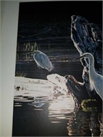 Rod Frederick Snowy reflections signed print