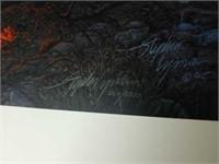 Midnight Fire Stephen Lyman signed print