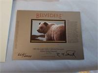 "Signed Rod Frederick ""Belvedere"" Print"
