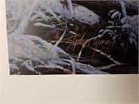 "Signed Stephen Lyman ""The Crossing"" Print"