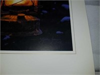 Firelight Stephen Lyman signed book and print