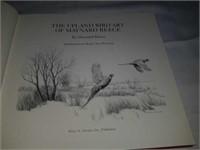 Signed The upland bird art of Maynard Reece book