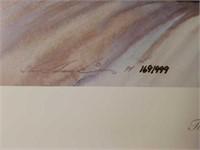 """Signed Steve Hanks """"Time Standing Still"""" Print"""