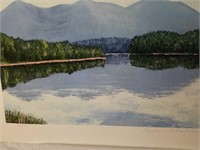 """Signed R. Byram """"Mountain Reflections"""" Print"""