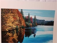 """Signed R. Byram """"The Lake In Autumn"""" Print #9/160"""