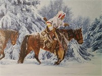"""Signed Paul Calle """"When Trails Grow Cold"""" Print"""