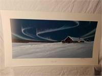 "Signed Jon Van Zyle ""Northern Lights"" Print"