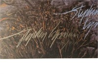 "Signed Stephen Lyman ""Midnight Fire"" Print"