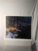"Signed Stephen Lyman ""Warmed By The View"" Print"
