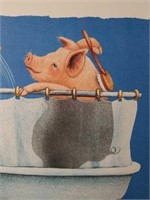 """Signed Will Bullas """"Hog Wash"""" Numbered Print"""