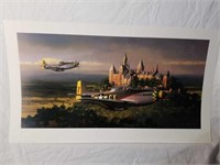 """Signed William Phillips """"Victory Pass"""" Print"""