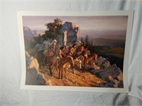 "Signed Terpning ""Gold Seekers to the Black Hills"""