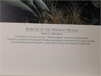 """Signed Frank McCarthy """"Ambush at Ancient Rocks"""""""