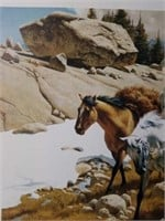"Signed Frank McCarthy ""His Wealth"" Print"