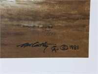 "Signed Frank McCarthy ""Medicine Man"" Print"