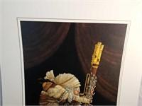 "Signed Christensen ""The Bassoonist"" Print"