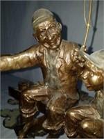 """That's a Keeper"" Bronze Sculpture by Mark Hopkins"