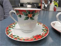 Christmas cups and saucers