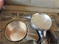 Miniature communion set in case