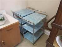 Two serving carts