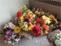 Room full of artificial flowers