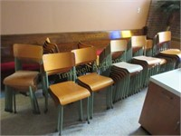 Large quantity of stacking chairs