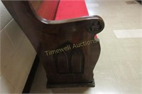 13' Pew with upholstered seat