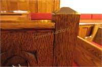 Lovely heavy oak chair