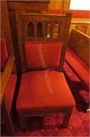 Lovely heavy oak  armchair